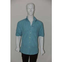 JHE Wrinkle Free Green Colour Casual Check Shirt Size 38