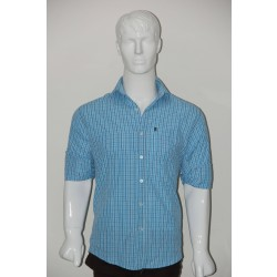 JHE Wrinkle Free Sky Colour Casual Check Shirt Size 38