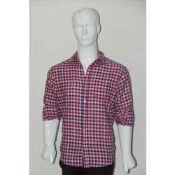 Adam Smith Cotton Red Colour Casual Check Shirt Size 40