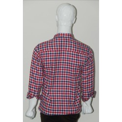 Adam Smith Cotton Red Colour Casual Check Shirt Size 36 1