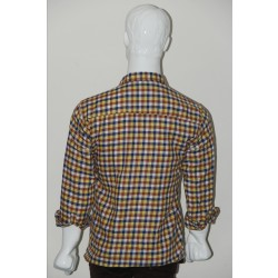 Adam Smith Cotton Golden Colour Casual Check Shirt Size 38 1