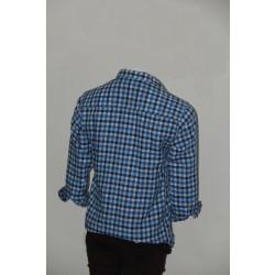 Adam Smith Cotton Sky Blue Colour Casual Check Shirt Size 38 1