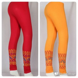 Trendy girls Bottom printed leggings 1