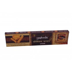 Yashoda Premium Chandan Agarbatti 16-17 Incense Sticks  22 gms a Pack 1