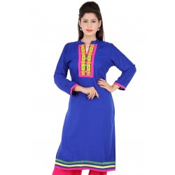 RTF Blue Rayon Stylish women kurtis Size M