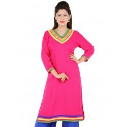 RTF Pink Rayon Stylish women kurtis Size XL