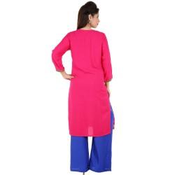 RTF Pink Rayon Stylish women kurtis Size XXL 3