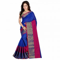 Handloom Cotton Saree with Zari border