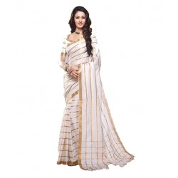 Pearl Fashion White color Bhagalpuri Silk Saree