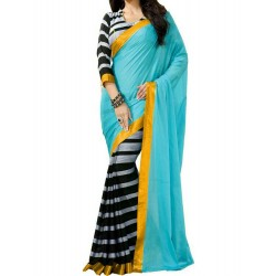 Pearl fashion Bhagalpuri Blue saree
