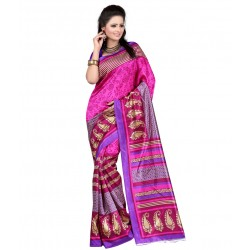 Pearl Fashion printed Art silk saree