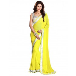 Pearl Fashion Chiffon Saree With Silver Blouse 1