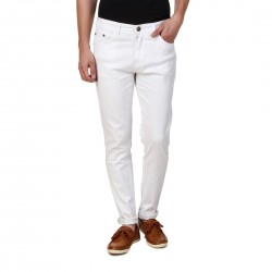 HALTUNG MENS SLIM FIT JEANS WHITE-30