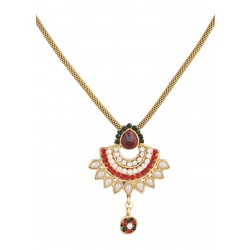 Adoreva Red Green Pendant Earrings Set for Women 375 1