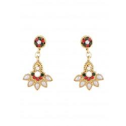 Adoreva Red Green Pendant Earrings Set for Women 375 2