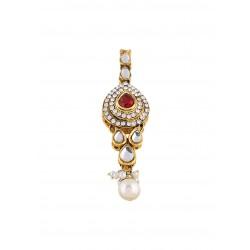 Adoreva Bridal Pearl Kundan Necklace Set for Women 361 3