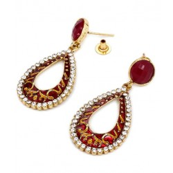 Adoreva Red Earrings for Women 303 2