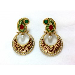Adoreva Red Green Earring for Women 300