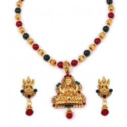 Adoreva Temple Jewellery Necklace Earring Set for Women 290