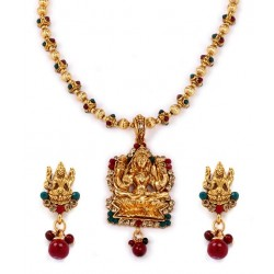 Adoreva Temple Jewellery Necklace Earring Set for Women 288