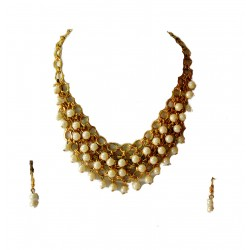 Adoreva Pearl Statement Necklace for Women 248