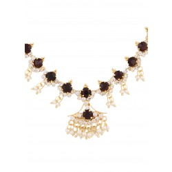Adoreva Purple Necklace Earrings Ring Set for Women 235 2