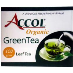 Accol Organic Green Tea Leaf 100 Gm