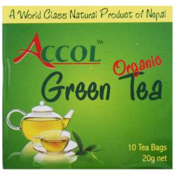 ACCOL Organic Green Tea Bag 20 Gm 1