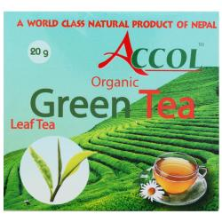 Accol Orgainc Green Tea Leaf 20 Gm