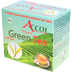 Accol Orgainc Green Tea Leaf 20 Gm 1