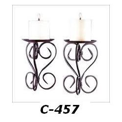 C 457  iron cande stand
