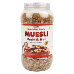 Muesli Fruit & Nut - Breakfast Cereal 1 Kg Jar