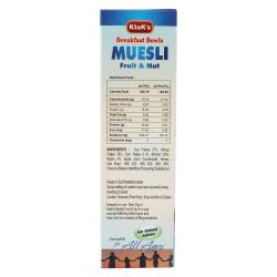 No Added Sugar Fruit & Nut Muesli 250 gms 1
