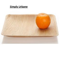 Palm 10Square | 100% Natural| Disposable Dinner Plate Elegant, Wood finish for Restaurant/ Caterin