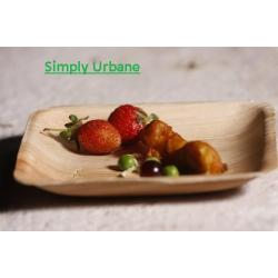 Palm 6Square | 100% Natural| Disposable Dinner Plate Elegant, Wood finish for Restaurant/ Catering