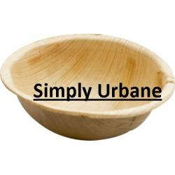 Palm 3.6Round Bowl | 100% Natural| Disposable Dinner Plate Elegant, Wood finish for Restaurant/ Cate