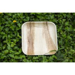 9 inch Disposable Square Areca Palm Leaf plates  1