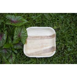 7 inch Disposable Square Areca Palm Leaf plates 1