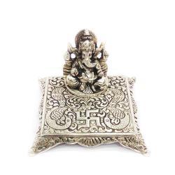 Brass Material Chowki Ganesha