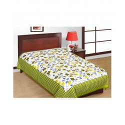 Saganeri and Jaipuri Printed Cotton Single Bedsheets Combo(No Pillow Cover) 1