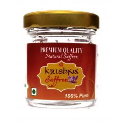 Shri Krishna 100% Pure Kashmiri Saffron Threads - 2gm