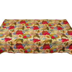 Multi Flower Printed  Single Bed Cover