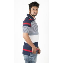 White and Blue Polo T-Shirt 1