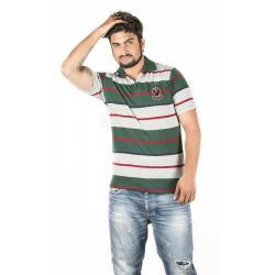 White, Green and Red Polo T-Shirt