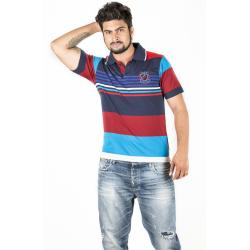 Red and Blue Combination Polo T-Shirt