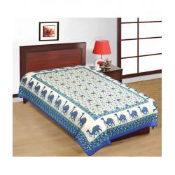 Saganeri & Jaipuri Printed Cotton Single Bedsheets Combo (No Pillow Covers)