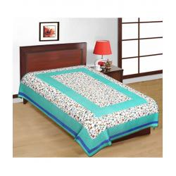 Saganeri & Jaipuri Printed Cotton Single Bedsheets Combo (No Pillow Covers)