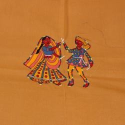 Rajasthani Traditional Print Double Bed Sheet (2 Pillow cover)