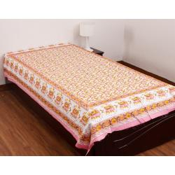 New Styliner 100 % Cotton Single Bed Sheet
