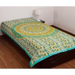 New Styliner 100 % Cotton Single Bed Sheet (No Pillow cover)